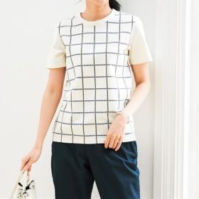 【レディース】 プリントTシャツ(S-5L・綿100%・半袖) ■カラー:アイボリホワイト ■サイズ:S,M,L,LL,3L,4L-5L