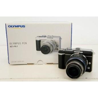 【中古】OLYMPUSオリンパス 新世代マイクロ一眼 PEN Lite E-PL1 ブラック レンズキット 1230万画素 デジタルカメラ