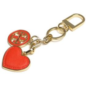 トリーバーチ TORY BURCH LOGO AND HEART KEY FOB キーリング 11169312-605 POPPY RED オレンジ系