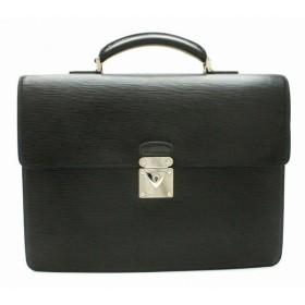 (バッグ)LOUIS VUITTON ルイ ヴィトン エピ ロブスト1 書類カバン ビジネスバッグ ブリーフケース レザー ノワール 黒 ブラック シルバー金具 M54532 (k)