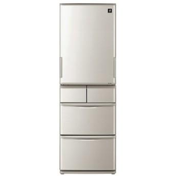 シャープ412L 5ドアノンフロン冷蔵庫プラズマクラスター冷蔵庫シルバーSJW412ES