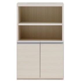 収納棚 オープン棚 + 戸棚 ホワイトウッド ECS-61H