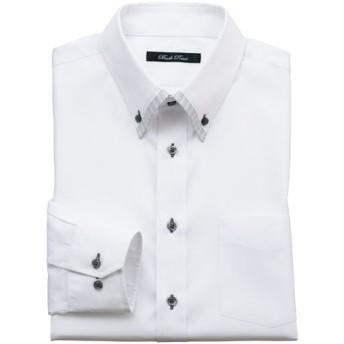 15%OFF【メンズ】 形態安定デザインYシャツ(ゆったりシルエット) ■カラー:ホワイト・ドビー ■サイズ:39(裄丈78),39(裄丈82),43(裄丈84),45(裄丈86),50(裄丈88)