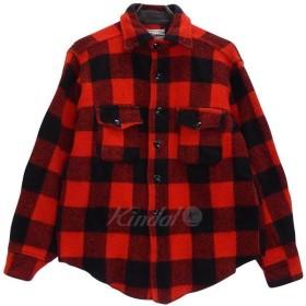 Melton ウールシャツ 60s ブロックチェック ビンテージ レッド サイズ:- (東心斎橋店) 180927