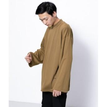 SENSE OF PLACE(センスオブプレイス) トップス Tシャツ・カットソー モックネックエクストラルーズTシャツ