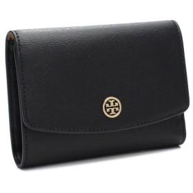 トリーバーチ TORY BURCH 三つ折り財布 背面ファスナー 小銭入れ付き 39939 001 BLACK ブラック