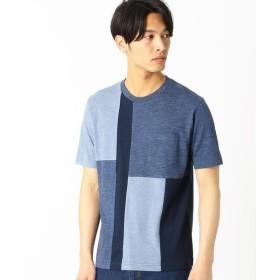 COMME CA ISM / コムサイズム パネル切替 クルーネックTシャツ