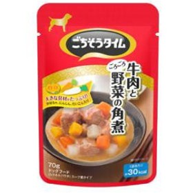 ペットライン ごちそうタイムパウチ 牛肉とごろごろ野菜の角煮 70g  GTギユウニクゴロVカクニ70G【返品種別B】