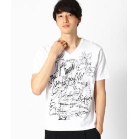 COMME CA ISM / コムサイズム <吸水速乾機能> プリント Vネック Tシャツ