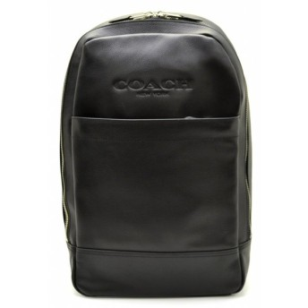 (バッグ)COACH コーチ リュック リュックサック バックパック ショルダーバッグ レザー 黒 ブラック メンズ F54135(k)