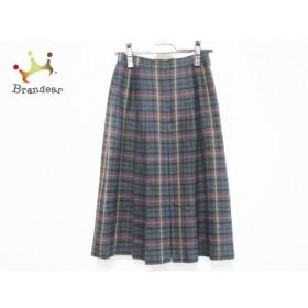 ダックス DAKS スカート サイズ64-91 レディース グリーン×レッド×マルチ チェック柄   スペシャル特価 20190929