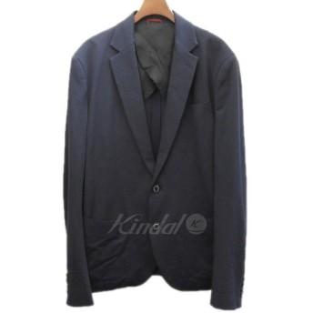 【4月2日値下】1 piu 1 uguale 3 ×GOETHE 「travel jacket」 ノッチド2ボタンシアサッカージャケット ネイビー サ
