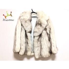 エンバ EMBA コート レディース 白×ダークブラウン 冬物/ファー(ブルーフォックス) 新着 20190629