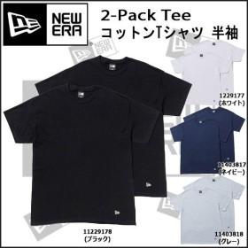 アパレル カジュアル Tシャツ メンズ ニューエラ NEW ERA コットンTシャツ 半袖 2-Pack Tee 2枚組