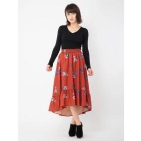 【CECIL McBEE:スカート】フラワーフィッシュテールスカート