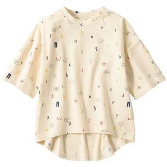 30%OFF【レディース】 プリントゆったりTシャツ ■カラー:ベージュ ■サイズ:LL-3L