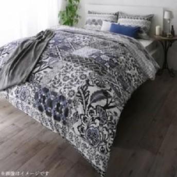 日本製・綿100% 地中海リゾートデザインカバーリング 布団カバーセット 和式用 43×63用 (寝具幅サイズ シングル3点セット)(寝具カラー