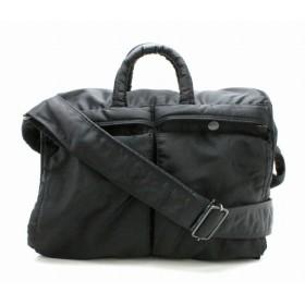(バッグ)PORTER ポーター 書類カバン ビジネスバッグ 2WAYバッグ ショルダーバッグ 黒 ブラック (k)