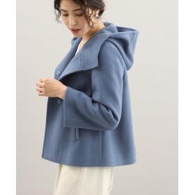 ビス 二重織りメルトンショートフードコート レディース ブルー(44) L 【ViS】