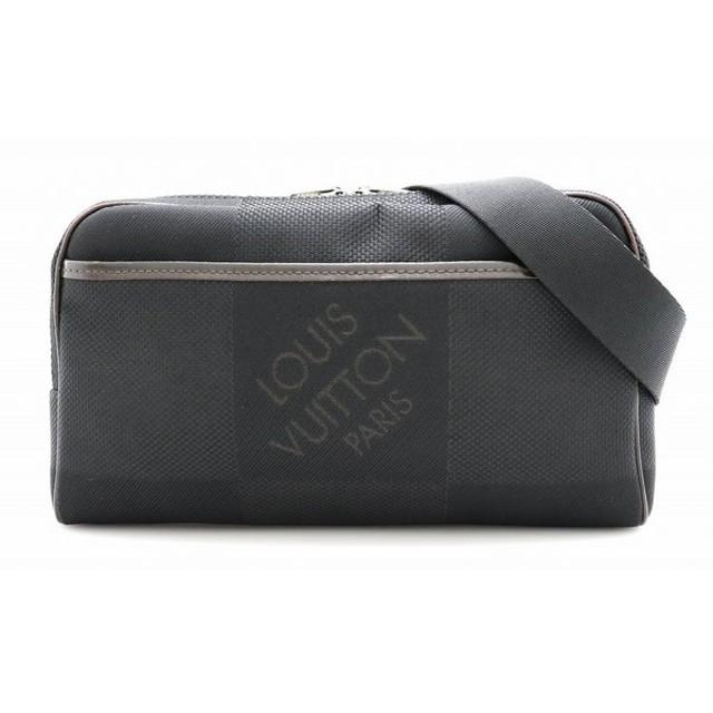(バッグ)LOUIS VUITTON ルイ ヴィトン ダミエジェアン アクロバット ボディバッグ ウエストバッグ キャンバス ノワール 黒 ブラック M93620 (k)