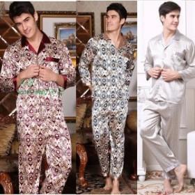 fb4ee2fd66e082 パジャマ メンズ 夏 色柄おまかせ 前開き 紳士パジャマ ガーゼ 長ズボン ルームウェア 男性