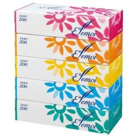 全国配送可 エルモアティシュー 200組×5箱 (jtx 857525) カミ商事
