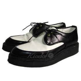 【9月26日値下】KIDS LOVE GAITE 18AW Creeper Shoes クリーパーシューズ ラバーソール ブラック×ホワイト サイズ:
