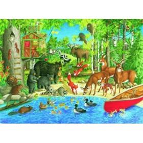 ★ 200ピース ジグソーパズル  森のなかまたち Woodland Friends  (49 x 36 cm)