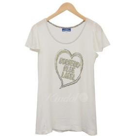 【7月1日値下】BURBERRY BLUE LABEL ハートプリントTシャツ Tシャツ ホワイト サイズ:36 (二子玉川店)