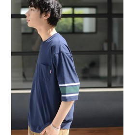 コーエン USAコットンハーフスリーブフットボールTシャツ メンズ NAVY LARGE 【coen】