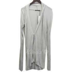MA julius 14AW 「washed jersey cardigan」 ウォッシュロングカーディガン ライトグレー サイズ:1 (新宿店ANN