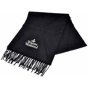 (アパレル)Vivienne Westwood ヴィヴィアン ウエストウッド ウール100% マフラー ブラック(k)
