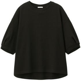 (GU)ヘビーウェイトT(5分袖)JN BLACK L