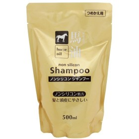 TKコーポレーション TK CORPORATION 馬油 シャンプー 詰替用 500ml ヘアケア HORSE OIL SHAMPOO FOR SHINY HAIR