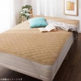 単品 10色から選べるショート丈専用 ザブザブ洗えて気持ちいい コットンタオルのパッド・シーツ 用 敷きパッド 1枚 (寝具幅サイズ セミ