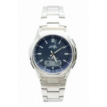 (ウォッチ)CASIO カシオ ウェーブセプター タフソーラー 電波 ブルー アナログ デジタル ソーラー充電 腕時計 メンズ WVA-M630 (k)