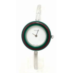 (ウォッチ)GUCCI グッチ チェンジベゼル ホワイト文字盤 SS レディース QZ クォーツ 腕時計 11/12.2(k)