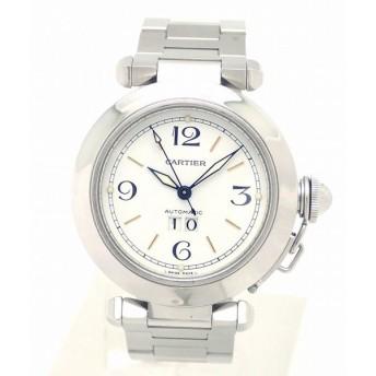 (ウォッチ)Cartier カルティエ パシャC ビッグデイト ホワイト文字盤 35mm AT オートマ 腕時計 W31044M7 (k)