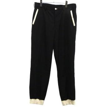 【11月5日値下】YOHJI YAMAMOTO pour homme 09AW裾リブスラックスパンツ ブラック サイズ:4 (渋谷神南店)