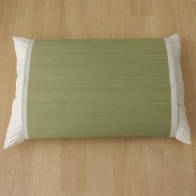 枕パッド 国産い草使用 『無地 枕パッド やわらかめ』 ストライプグリーン 約50×63cm 3659589