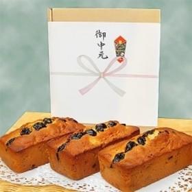 【お中元 熨斗付き】 地球屋プレミアム フルーツパウンドケーキ3本セット