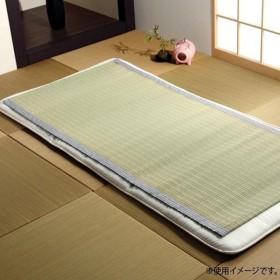 純国産 い草シーツ(寝ござ) 『白水』 グレー シングル 約88×180cm 6508009