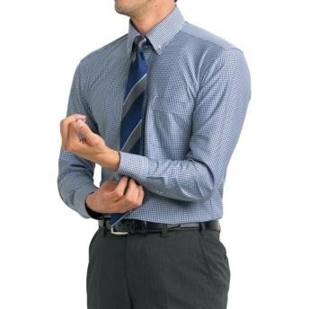 【メンズ】 吸汗速乾機能付き!ニット素材の形態安定Yシャツ ■カラー:ギンガムチェック ■サイズ:39(裄丈82),41(裄丈80),41(裄丈82),41(裄丈84),43(裄丈82),43(裄丈84),45(裄丈84),45(裄丈86),47(裄丈86),50(裄丈88),39(裄丈78),39(裄丈80)
