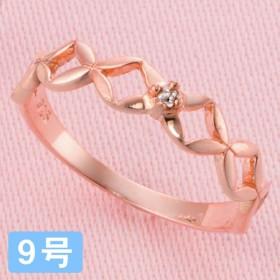 ピンクゴールド ダイヤモンドリング