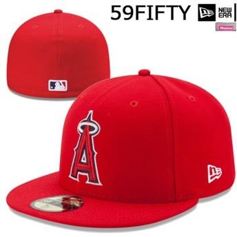 ニューエラ 帽子 キャップ cap メンズ レディース NEW ERA 59FIFTY ロサンゼルス・エンゼルス スカーレット