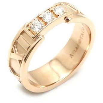 (ジュエリー)TIFFANY&Co. ティファニー アトラス オープンリング アトラスリング 指輪 K18PG 750PG ピンクゴールド ダイヤモンド 3Pダイヤ 8号 #8 (u)