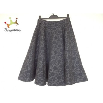 ロイスクレヨン Lois CRAYON スカート サイズM レディース 美品 グレー×黒 花柄 新着 20190629