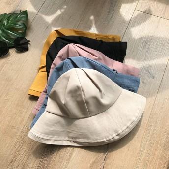 【2019·新品夏用帽子】UVハット 小顔効果抜群 オシャレなUVハット 紫外線100%カット 折りたたみ帽子 あご紐付き