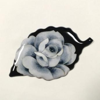 七宝焼 (受注製作)葉っぱのブローチ&ネックレス