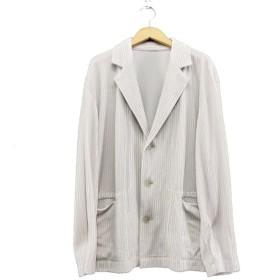 ISSEY MIYAKE MEN 2018SS プリーツテーラードジャケット ライトグレー サイズ:2 (なんば店) 190617